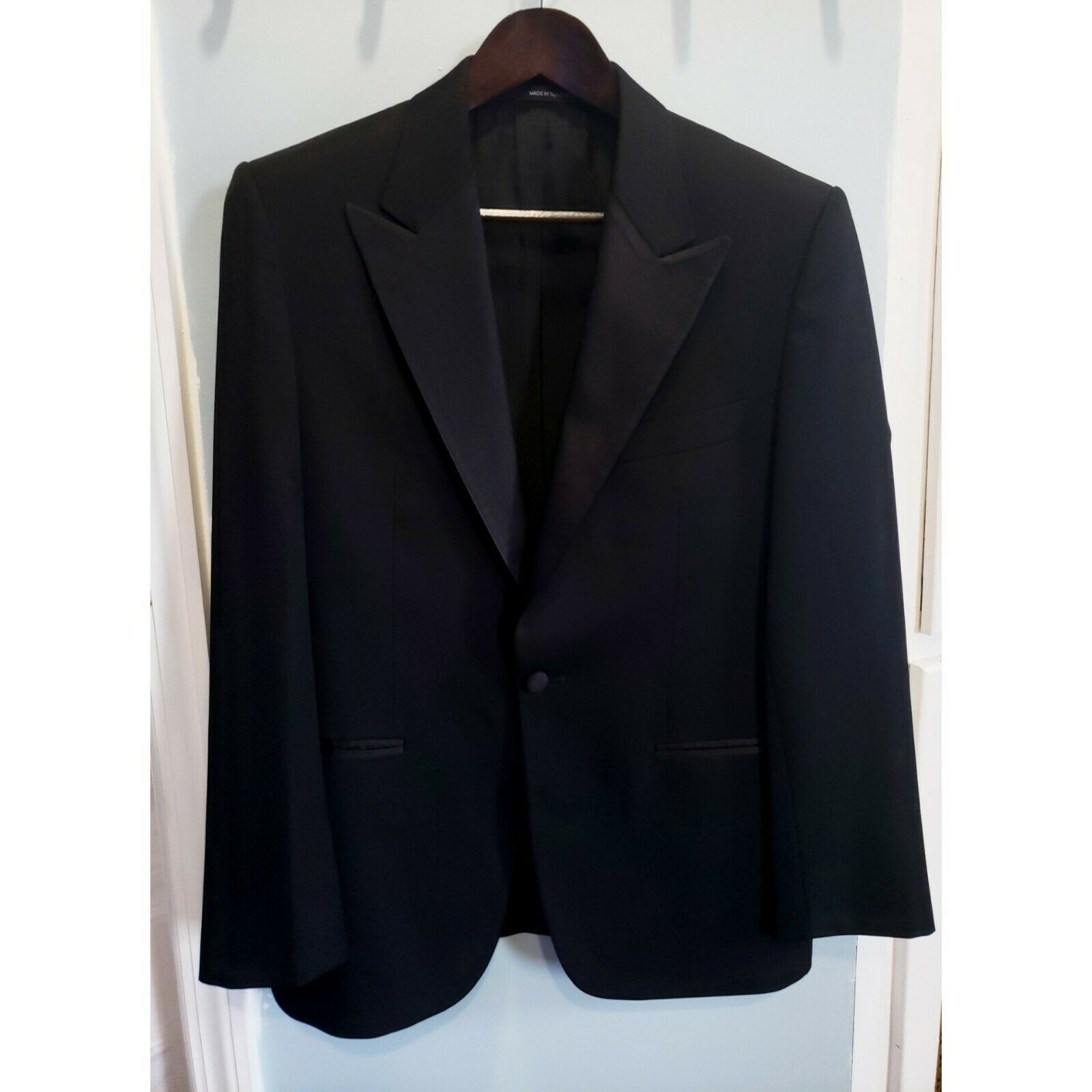 Hugo Boss US 36S Black Tuxedo Suit and Pants Cary Grant Super 100