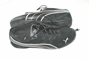 promo code 48379 c598a Details about Puma Drift Cat Black Suede Lace Up Running Sneakers Women's  Size 7