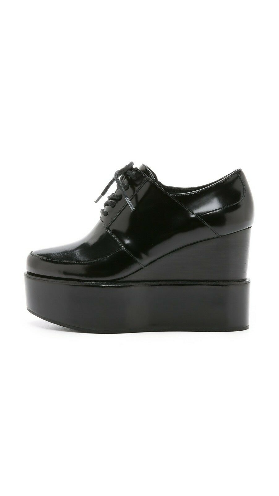 DKNY Step Tailored Platform Wedges Wedges Wedges Lace Up Oxfords shoes Black Sz 9 EU 40 As is 57f599