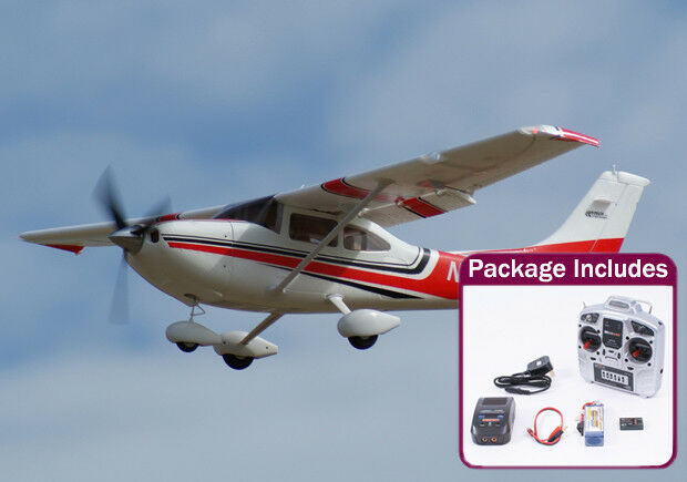 Ready To Fly 1.3 Meter Art-Tech Cessna 182 Radio Control Scale Model Plane - Red