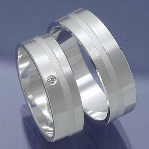 1 Paar Silber Eheringe Trauringe Freundschaftsringe Partnerringe P6216776Beschre