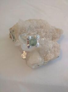 Unique-Beautiful-Green-Tourmaline-Ring-set-in-925-Sterling-Silver-Size-8-5