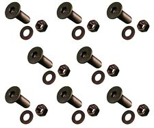 8 Cat Bobcat Style Cutting Edge Bolts Nuts Amp Washers 58 X 2 12 159 2953