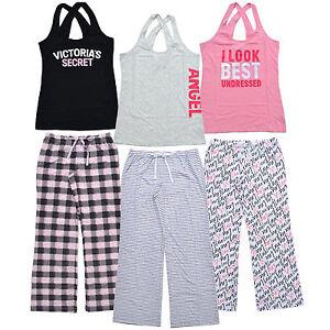 Victoria-039-s-Secret-Pajama-Set-Lounge-Pant-Pj-Bottoms-Tank-Top-Sleepwear-Vs-New