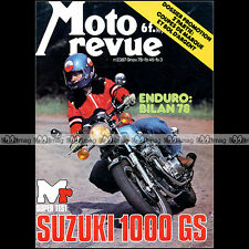 MOTO REVUE N°2387 ★ SUZUKI GS 1000 ★ ACCESSOIRES pour GUZZI 850 LE MANS ★ 1978
