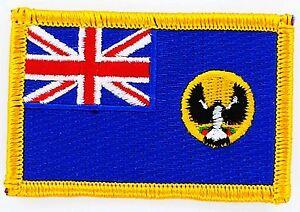 Infatigable Patch Ecusson Brode Drapeau Etat D'australie Meridionale Insigne Retarder La SéNilité