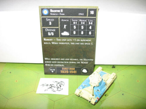 Axis /& Allies Early War Valentine II with card 18//50