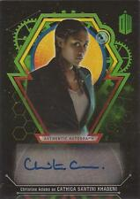 """Doctor Who Extra Terrestrial - Christine Adams """"Cathica"""" Autograph Card #50/50"""
