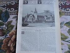 1901 ...Bauzeitung 40 / Kunstausstellung Berlin / Brücke Mannheim