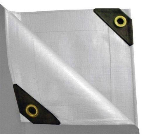12 X20' Feet White Heavy Duty Garden Patio RV Shade Canopy Poly Tarp Pool Cover