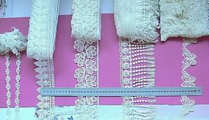 GUIPURE-Edge-amp-Insert-Lace-OFF-WHITE-15-100mm-Wide-3-5-Metres-5-Style-Choice-LR1