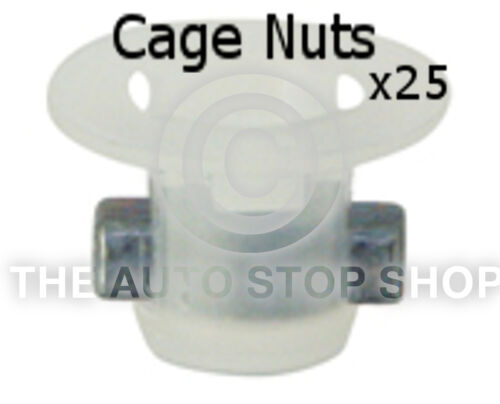 Cage Nut Slotted Punch Hole 6MM Thickness 1,8MM Citroen C4//C8 etc 405ci 25PK