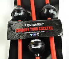 Confezione Da 3 Captain Morgan USA Cannonball Palla di cannone Stile Cannucce