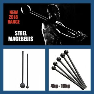 Details about 4Kg STEEL MACE BELL Strength and Conditioning Workout  Rotational Core Training