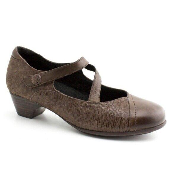 ARAVON PORTIA Mary Jane Brown Shoes 6.5