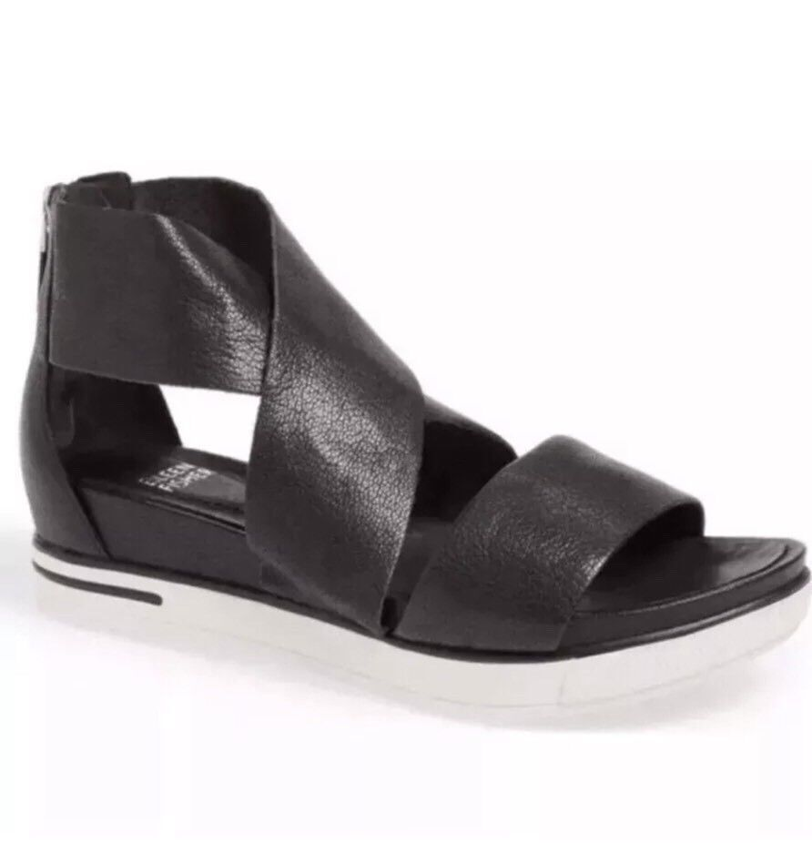 EILEEN PLATORM  SANDAL nero Leather Dimensione 8.5 US  outlet online