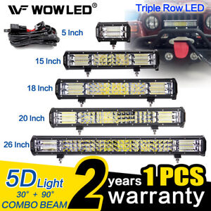 WOW-5D-LED-Work-Light-Bar-Spot-Flood-Offroad-Roof-Lights-Driving-Lamp-4x4-Car