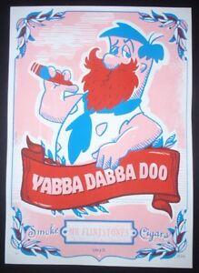 5-Day-Sale-FRED-FLINTSTONE-Signed-Cuban-Screenprint-Poster-Salutes-US-Cuba-Ties