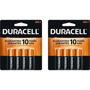 8 Count Duracell AA Coppertop Alkaline Batteries
