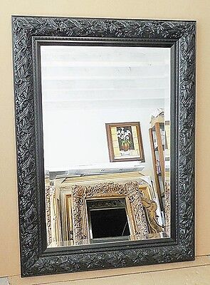 Large Ornate Solid Wood Quot 33x45 Quot Rectangle Beveled Framed