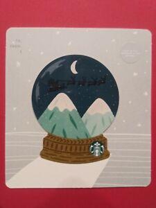 Santa 2018 Snow Globe Starbucks Card 6157