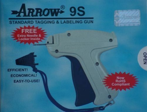 """Arrow Price Tag Gun 5 Extra Needle 5000 2/"""" RED Barbs Clothing Tagging Attacher"""