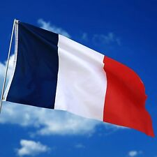 Large France French Flag 5*3FT 5'X3' Polyester  Banner  with Eyelets For Hanging