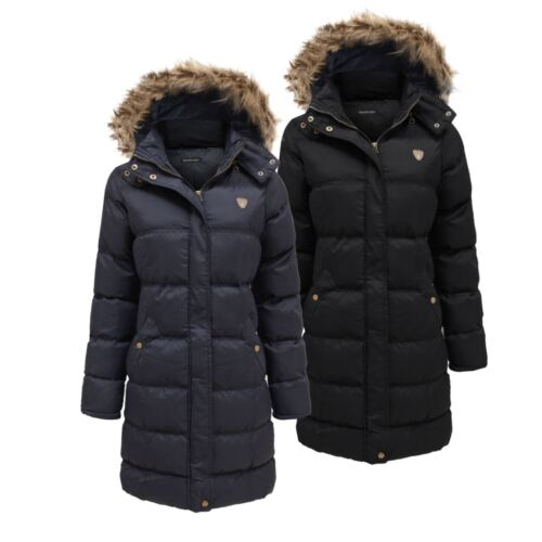 Unisex Childrens Padded Parka Winter Hoplong Padded Hood Quilted Jacket Age 7-13