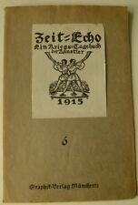 Zeit-Echo, Kriegs-Tagebuch der Künstler, Zeit-Echo 1914, Graphik, Alfred Kubin,