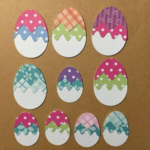 10 Easter Egg Die Cut Embellishment Cutout *Rainbow Cart Creations