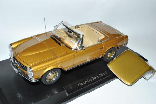 Mercedes-benz 230sl pagode roadster oro w113 1963-1971 1//18 norev modelo coche...