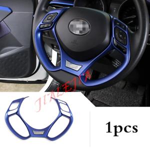Blue ABS Inner Steering Wheel Decor Frame Trim For Toyota C-HR CHR 2016-2018