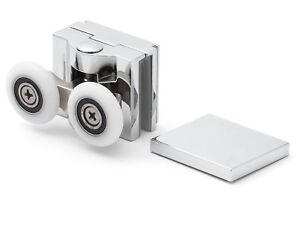 1 X Chrome Top Double Shower Door Rollers/runners/wheels 25 Mm Roue Dia Apq6-s 25mm Wheel Dia Apq6 Fr-fr Afficher Le Titre D'origine