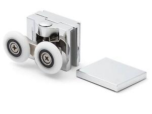 1 X Chrome Top Double Shower Door Rollers/runners/wheels 25 Mm Roue Dia Apq6-s 25mm Wheel Dia Apq6 Fr-fr Afficher Le Titre D'origine