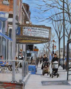 Spring-Day-Mile-End-8x10-Egg-Tempera-Darlene-Young-Canadian-Artist