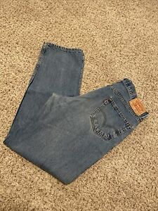 Levis-550-Relaxed-Fit-Jeans-Medium-Stone-Wash-Size-36x34-Faded