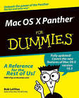Mac OS X Panther For Dummies by Bob LeVitus (Paperback, 2003)