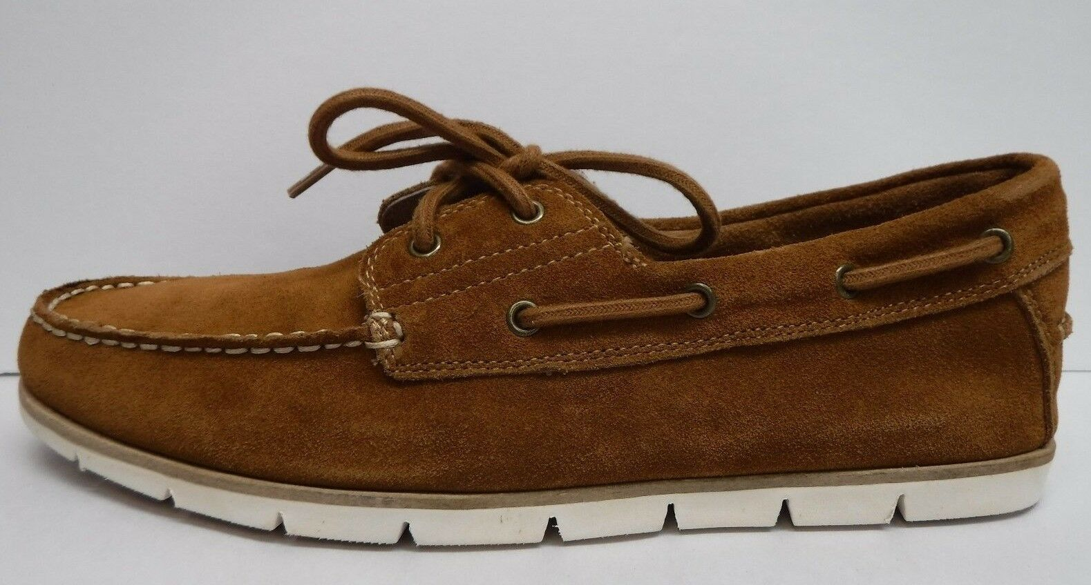 Scarpe casual da uomo  Steve Madden Size 10 Brown Suede Boat Shoes New uomos