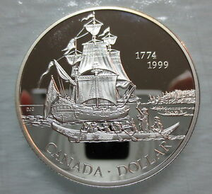 1999-CANADA-JUAN-PEREZ-PROOF-SILVER-DOLLAR-COIN