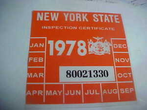 Image is loading new-york-1978-inspection-sticker-windshild