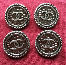 Chanel Buttons Set of 4 Silver Color 2cm