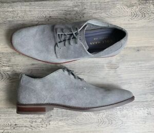 new products on sale online men/man Details about Cole Haan C29813 Mens 12 Grey Suede Leather Aerocraft Grand  360 Plain Toe Oxford