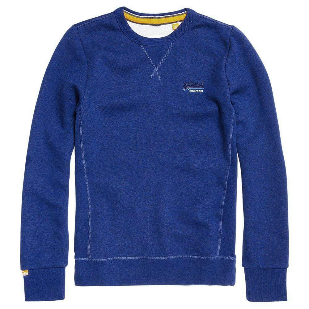Superdry  Herren Vintage Orange Label Crew Sweatshirt - Sonic Blau Ship Worldwide