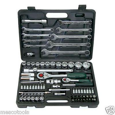 "Hobby Tool Kit FORCE-4821 SOCKET SET AND WRENCH SETS 1/4"" & 1/2"" 82PCS"