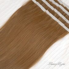 40pcs 100% Human Hair 3M Tape-in Extensions Remy #8 (Medium Brown) Lux_Vogue