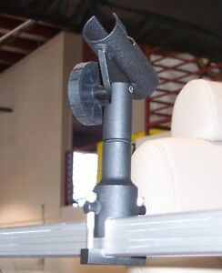 Details About Fishing Rod Holder Fits 1 1 4 Square Tube Rail On Pontoon Party Boats