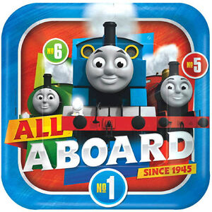 Image is loading THOMAS-All-Aboard-Friends-LARGE-PAPER-PLATES-8-  sc 1 st  eBay & THOMAS All Aboard Friends LARGE PAPER PLATES (8) ~ Birthday Party ...