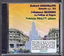 SCHUMANN BRAHMS CD NEW SONATE/ VARIATION/ PATRICIA PAGNY