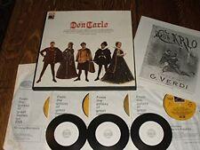 Verdi; Don Carlo. Giulini. 4xLP Box Set + FREE transcribed CDs.