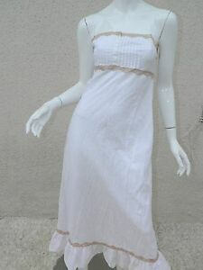 7bde0b94b3 Victoria s Secret Gown White Maxi Cotton Victorian Nightgown Long ...